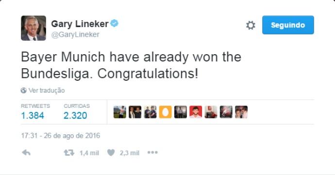 """BLOG: Artilheiro da Copa de 86, apresentador brinca: """"Bayern já ganhou a Bundesliga"""""""