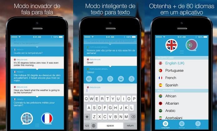 Faça traduções instantâneas de voz ou texto (Foto: Divulgação/AppStore)