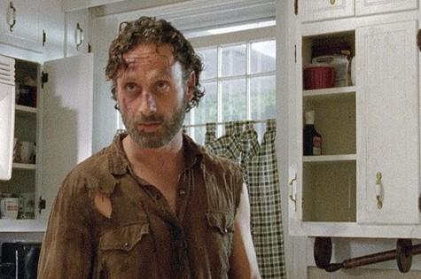 "Rick (Andrew Lincoln) em ""The walking dead"" (Foto: Reprodução)"