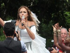 Daniela Mercury puxa trio pipoca no Campo Grande (Foto: Emmanuel Carneiro/Ag Haack)