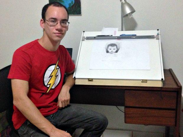 Desenhos são feitos por Thales Vasconcelos, de 22 anos, de Rio Branco (Foto: Arquivo pessoal)