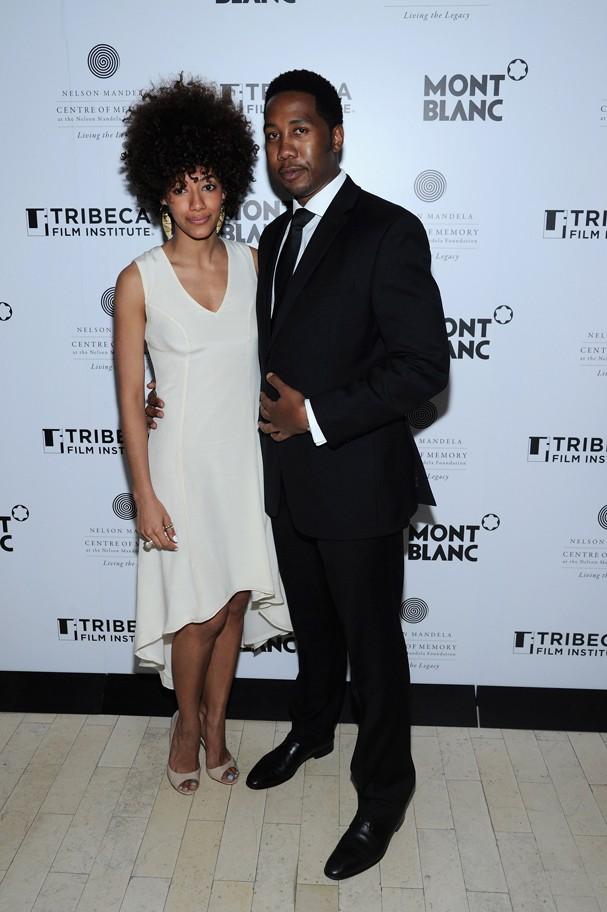 Juliana Luna e Ndaba Mandela em Festival de Cinema em 2013 (Foto: Ilya S. Savenok / Stringer )