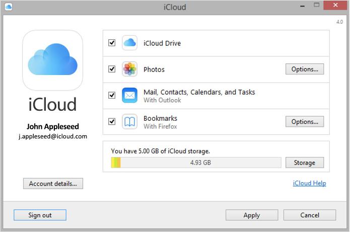 iCloud do Windows já suporta o Drive (Foto: Divulgação/Apple)
