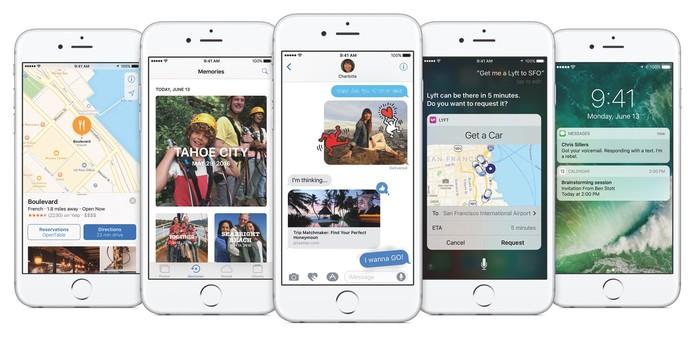 iOS 10 no iPhone (Foto: Divulgação/Apple)