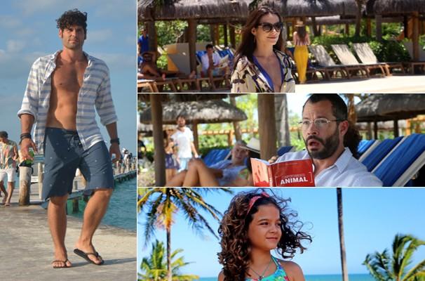 Ao descobrir que o casal brigou, Marcelo faz as malas e vai para o resort (Foto: Divulgação/Globo Filmes)