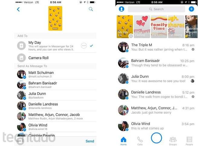 Facebook Messenger My Day apaga fotos enviadas em até 24h (Foto: Divulgação/Facebook)
