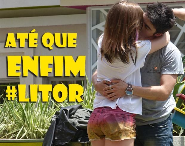 Até que enfim LiTor (Foto: Malhação / TV Globo)