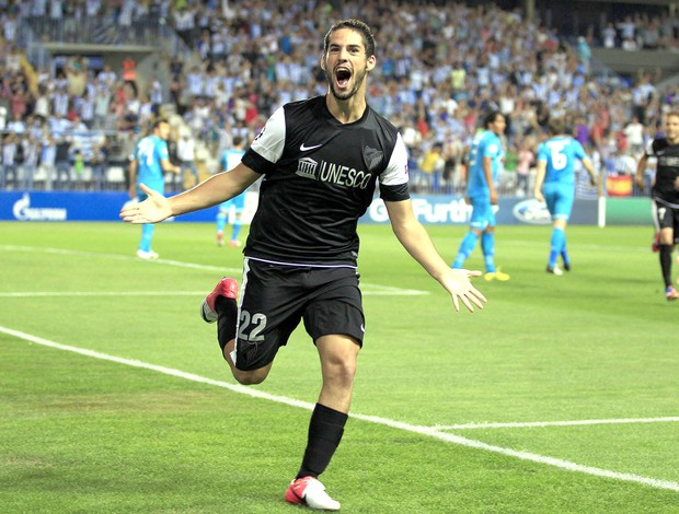 comemora&#231;&#227;o do Isco do malaga contra o Zenit (Foto: Ag&#234;ncia Reuters)
