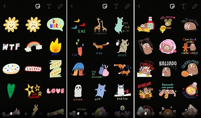 Snapchat ganhou emojis com expressões traduzidas para o português (Foto: Reprodução/Elson de Souza)