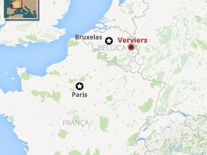 mapa belgica (Foto: G1)