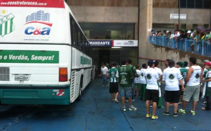 Torcida do Uberlândia Esporte, protesto, Parque do Sabiá (Foto: Gullit Castro)