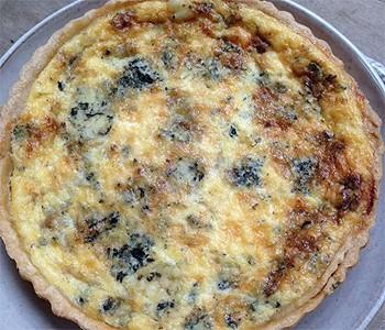 Quiche de cebola caramelizada e blue cheese (Foto: Arquivo pessoal)