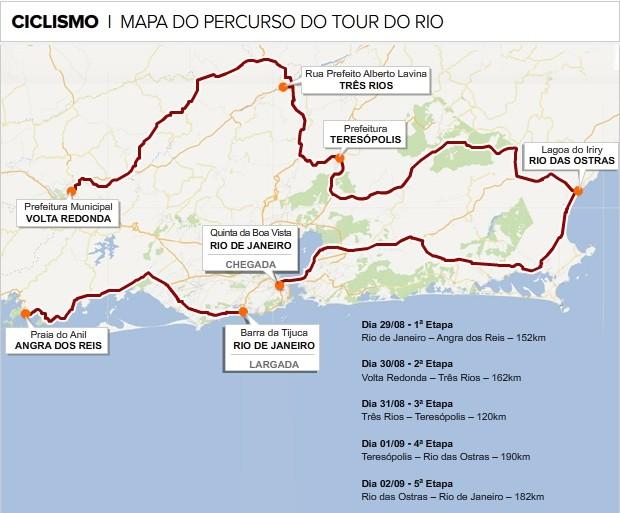 Info Tour Rio Ciclismo (Foto: infoesporte)