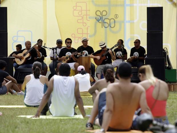 DOMINGO 5 - Público participa de atividades no Parque do Ibirapuera (Foto: Fernando Pilatos/TV Globo)