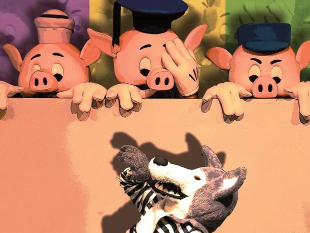 Peça infantil Os Três Porquinhos em Campinas  (Foto: Cia Artística)