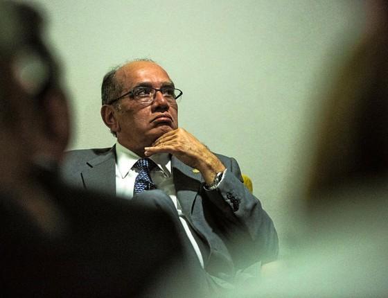 O ministro do STF,Gilmar Mendes.Ele é ouvido pelo Planalto na substituição de Teori (Foto: Suamy Beydoun/AGIF/afp)