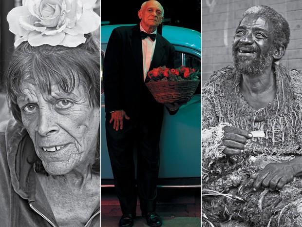 Anônimos e famosos: algumas das faces captadas pelas lentes de Gustavo Malheiros (Foto: Divulgação/Gustavo Malheiros)