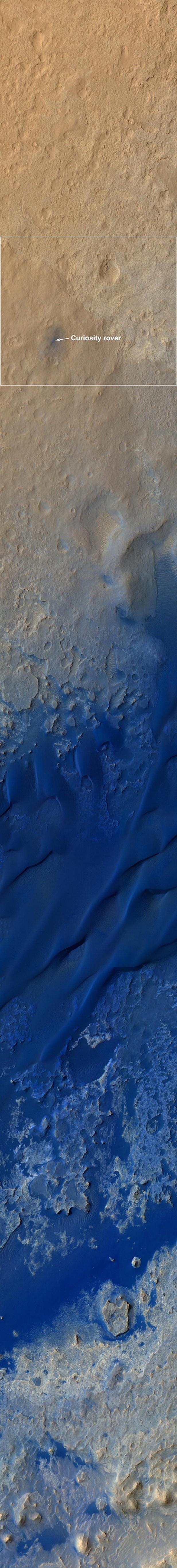 Curiosity pouso Marte (Foto: Nasa/JPL-Caltech/University of Arizona/Reuters)