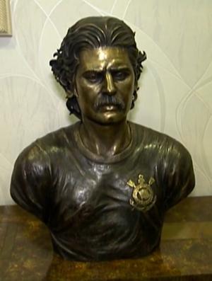 Busto Rivellino; Corinthians (Foto: Reprodução SporTV)