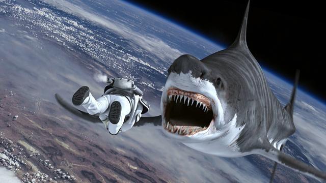Sharknado 3 chegou ao espao (Foto: Divulgao)