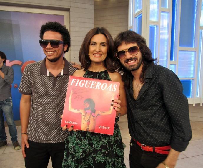 Banda alagoano 'Figueroas' participa do Encontro com Fátima Bernardes  (Foto: Carolina Morgado/Gshow)