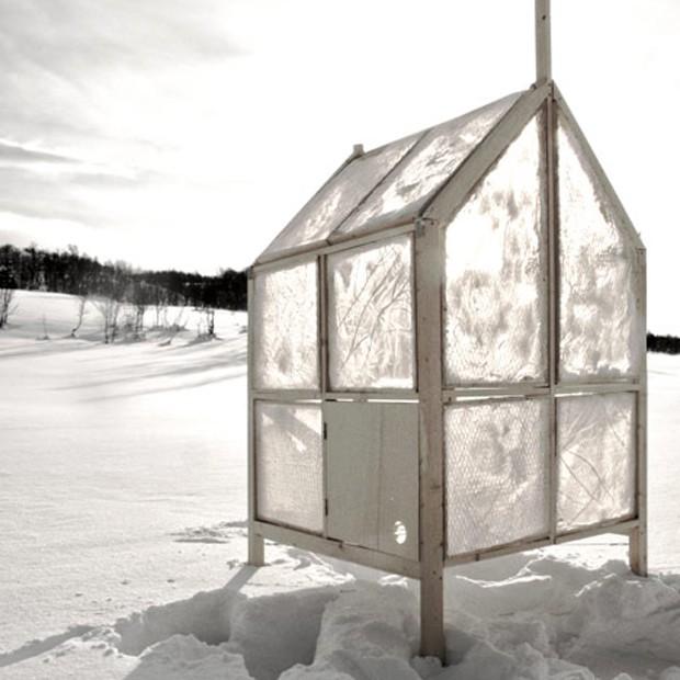 Arquitetos criam cabana com paredes de gelo (Foto: Reprodução)