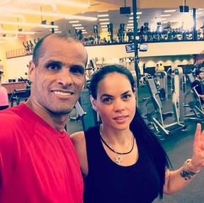 Rivaldo e a mulher, Eliza (Foto: Arquivo pessoal)