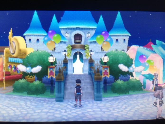 O Castelo fica no centro da imagem (Foto: Reprodução/Felipe Vinha)