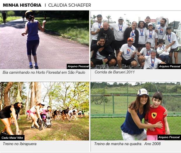 Galeria Claudia Schaefer, Minha História Eu Atleta (Foto: Editoria de Arte / Globoesporte.com)