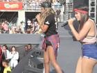 Anitta e Mc Ludmilla fazem apresentação juntas em show no Rio