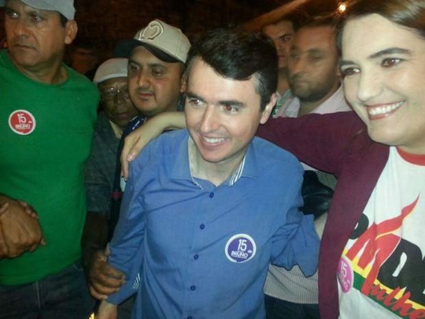 Bruno Siqueira (PMDB) foi reeleito prefeito de Juiz de Fora (Foto: Rafael Antunes/G1)