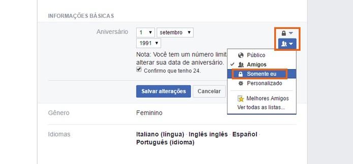 Esconda a data de aniversário no perfil do Facebook (Foto: Reprodução/Barbara Mannara) (Foto: Esconda a data de aniversário no perfil do Facebook (Foto: Reprodução/Barbara Mannara))