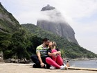 Andressa Urach e o marido, Tiago Costa, passam lua de mel no Rio
