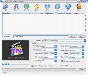 Allok Video to MP4 Converter