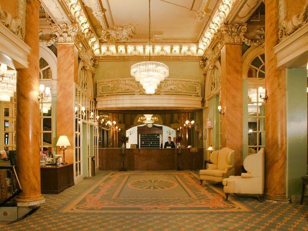 Saguão do hotel Wolcott, em Nova York (Foto: Wolcott hotel/Divulgação)