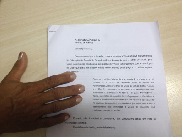 Candidatos entraram com pedido de ação no Ministério Público do Amapá (Foto: John Pacheco/G1)