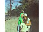 Rafaella Santos posa com Davi Lucca, filho de Neymar: 'Amores'