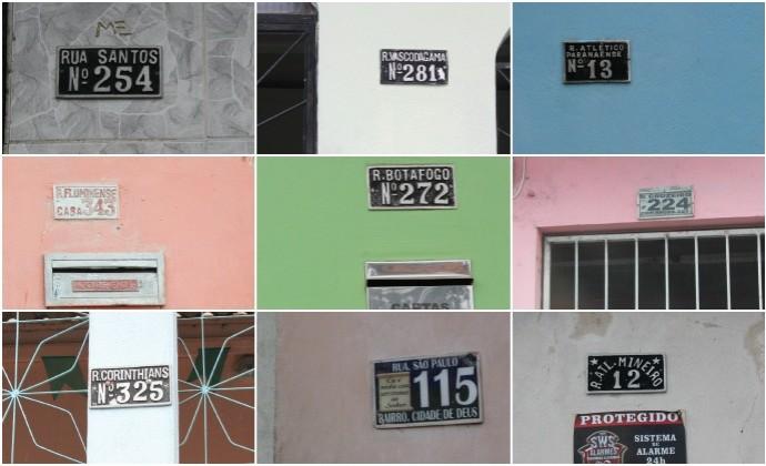 Ruas de Manaus com nome de times brasileiros (Foto: Isabella Pina)