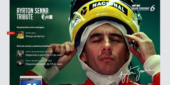 Site especial de Gran Turismo 6 vai receber informações sobre Ayrton Senna (Foto: Reprodução)