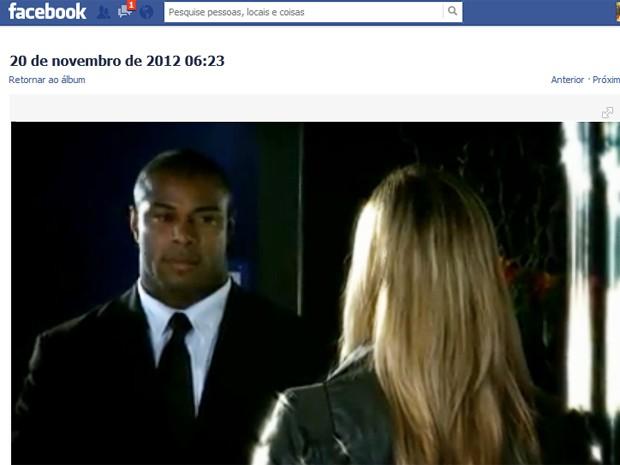 Amigos postaram no Facebook um comercial que Wagner Luis  participou (Foto: Reprodução / Facebook)