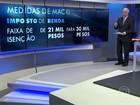 Argentina anuncia redução de imposto para a classe média