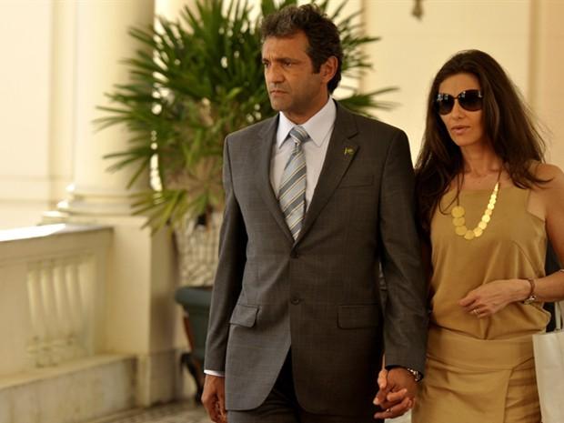 Domingos Montagner foi Presidente da República na série O Brado Retumbante (Foto: João Cotta / TV Globo)
