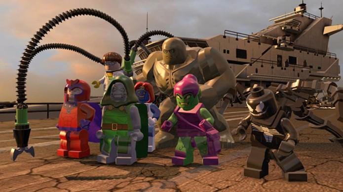 Não só de heróis é feito o elenco de LEGO Marvel Super Heroes, os vilões também marcam presença (Foto: comicsalliance.com)