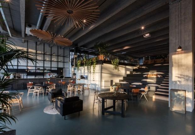 O espaço de coworking Fosbury & Sons, na Antuérpia (Bélgica) (Foto: Frederik Vercruysse e Bart Kiggen/GOING EAST)