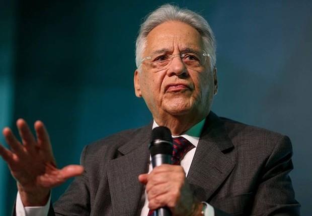 O ex-presidente Fernando Henrique Cardoso (FHC) dá palestra a grupo de corretores (Foto: Pedro Kirilos/Agência O Globo)