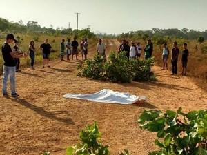 Homem morreu após ser atropelado por motocicleta (Foto: Divulgação/PM)