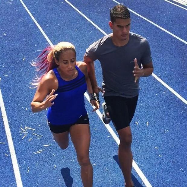 Terezinha Guilhermina treinando com Rodrigo Arcanjo (Foto: Instagram/Reprodução)