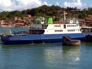 Movimento no ferry boat em Salvador (Foto: Reprodução/TV Bahia)