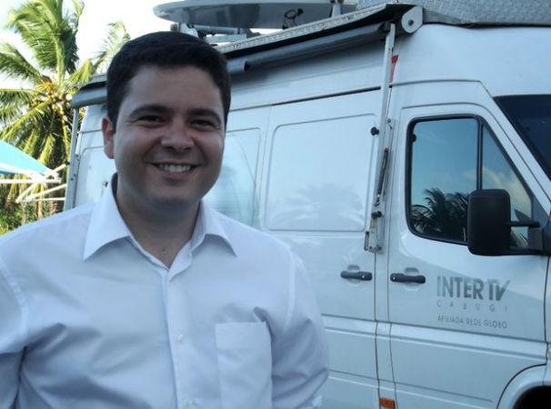 Repórter Antonio Coelho se despede da Inter TV Cabugi (Foto: Klênyo Galvão)