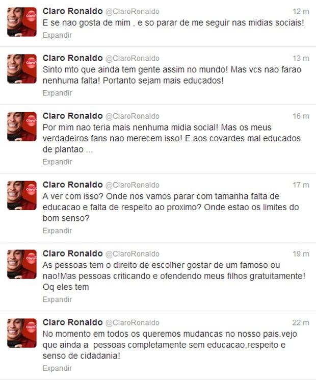 Print desabafo Ronaldo (Foto: Reprodução / Twitter )
